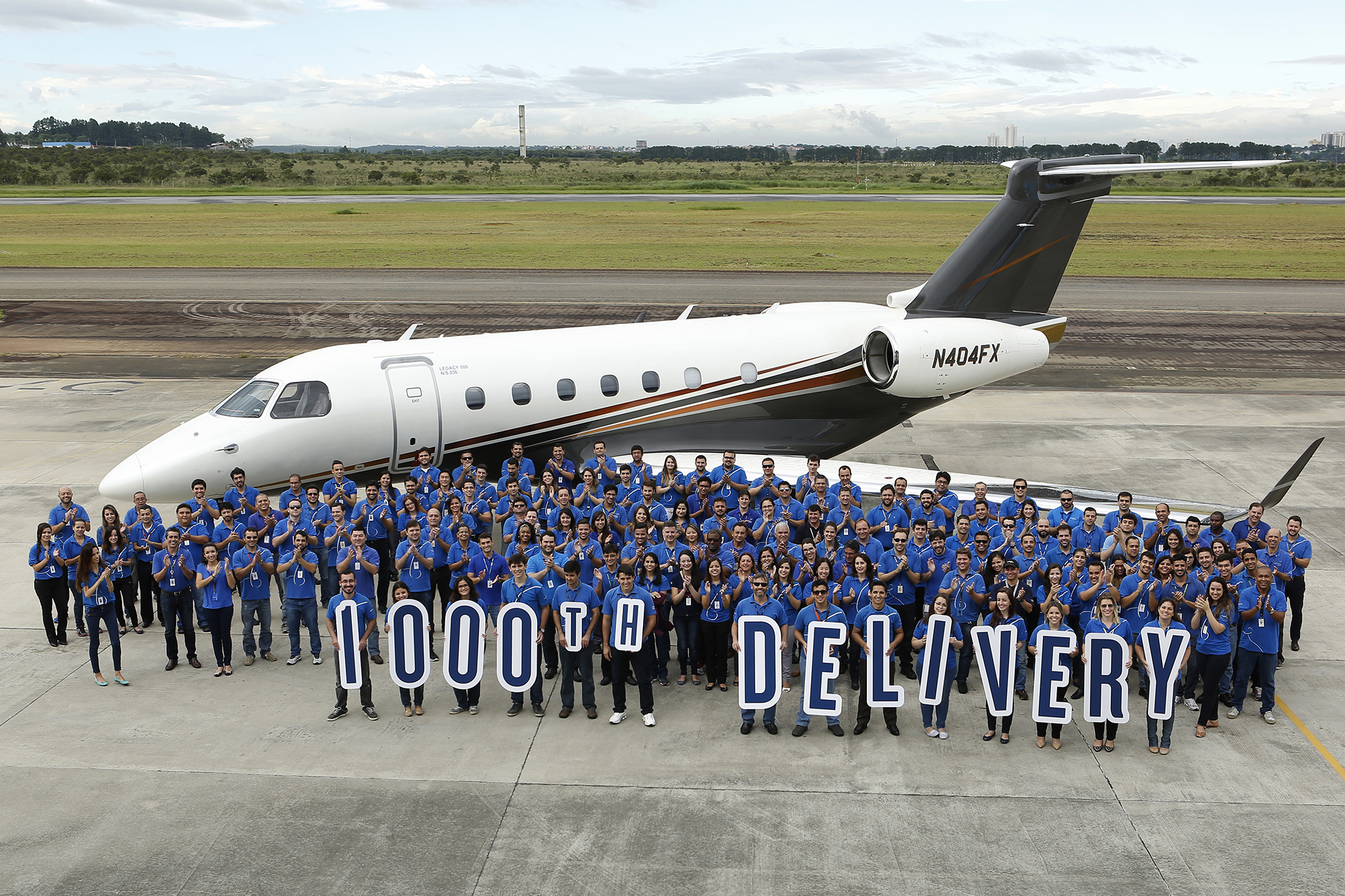 1000th executive jet by Embraer