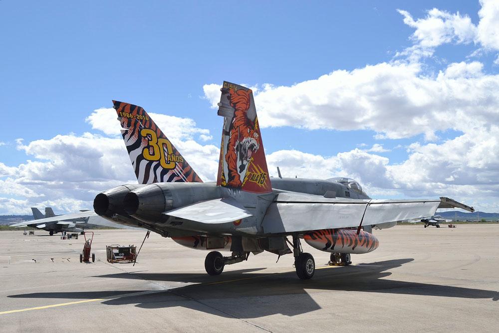 EF-18 Hornet com pintura Tiger Meet 2016 - foto 2 Forca Aerea Espanhola