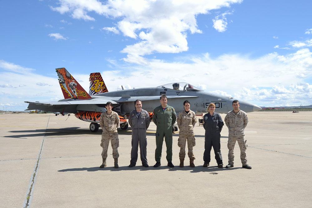 EF-18 Hornet com pintura Tiger Meet 2016 - foto Forca Aerea Espanhola