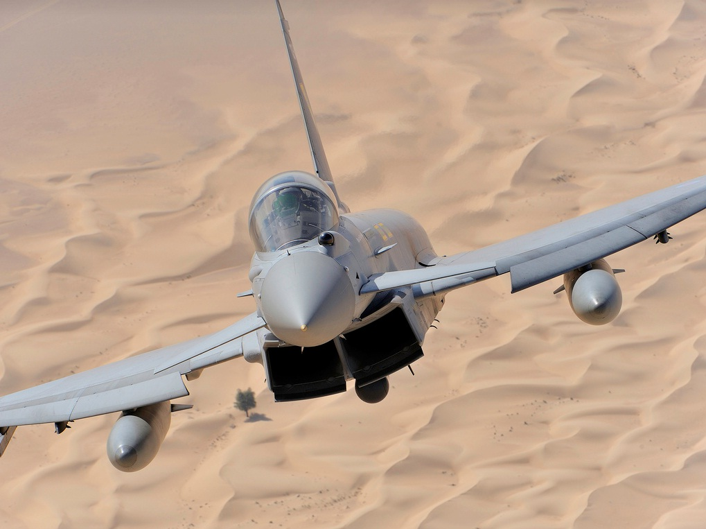 Eurofighter Typhoon- imagem via Finmeccanica