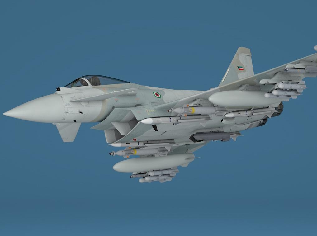 Eurofighter Typhoon para o Kuwait - imagem via Finmeccanica