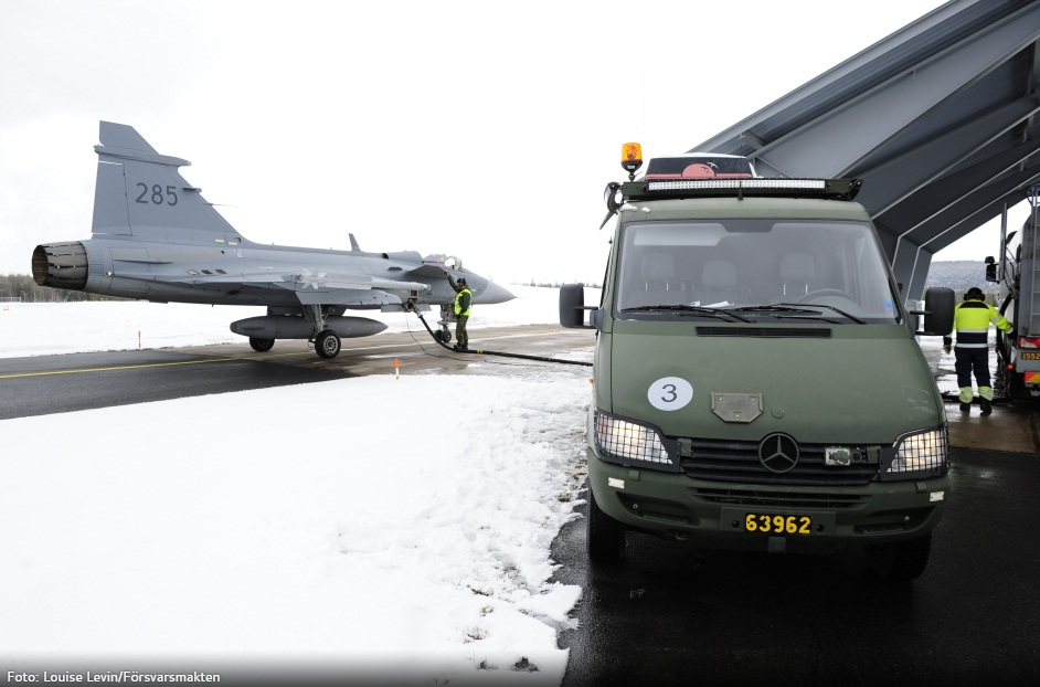 Desdobramento Ala 21 em Jokkmokksbasen - foto 2 Forcas Armadas da Suecia