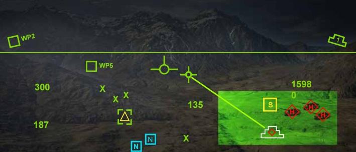 Scorpion HMD - simulacao da imagem mostrada -  Thales