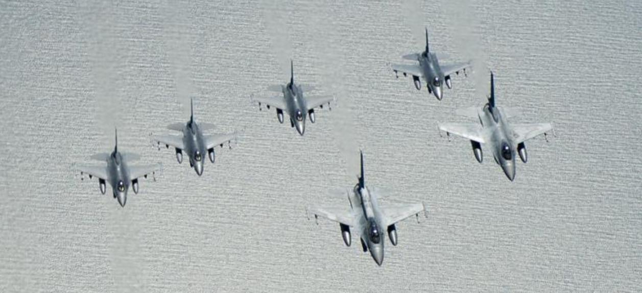F-16 Polonia e EUA - Baltic Operations 2016 - detalhe foto USAF