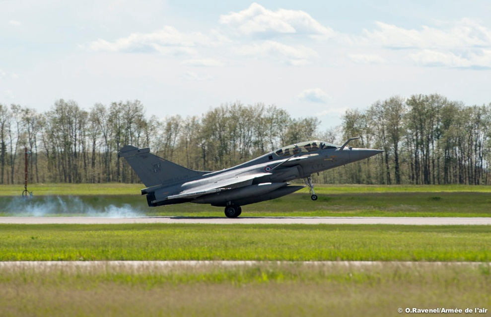 Rafale na Maple Flag no Canada - foto Forca Aerea Francesa