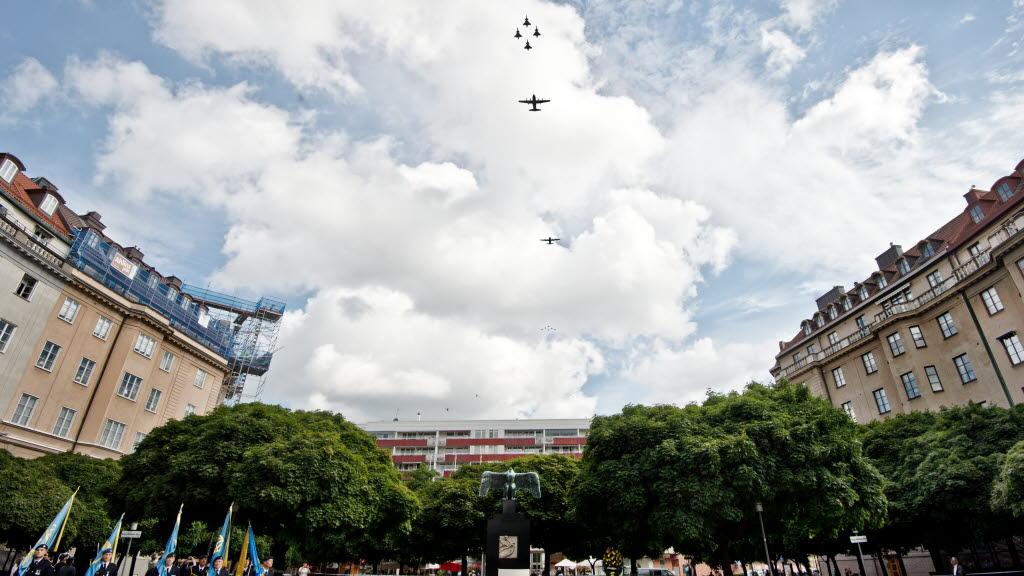 90 anos Forca Aerea Sueca - foto Forcas Armadas da Suecia