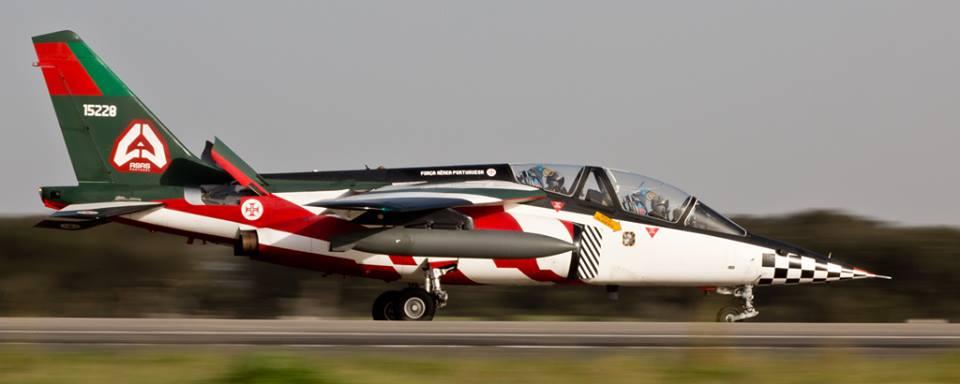 AlphaJet com as cores de Portugal - foto Força Aérea Portugueesa