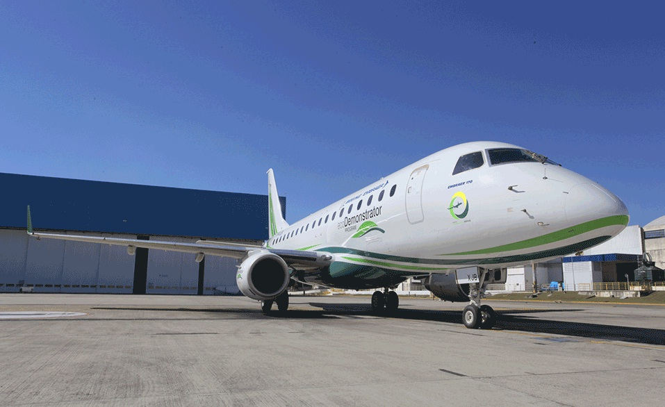 Embraer E170 Ecodemonstrator - ecodemonstrador - foto via Boeing