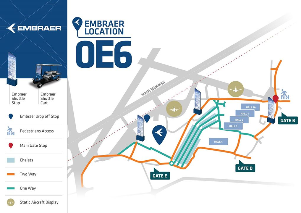 Embraer em Farnborough