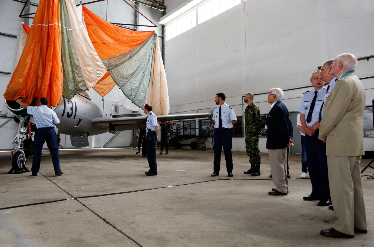 F-84G entregue ao Museu do Ar - foto Forca Aerea Portuguesa