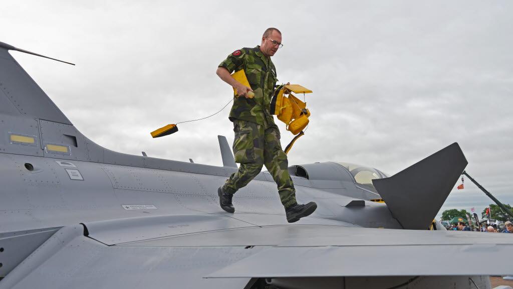 Gripen no RIAT 2016 - foto Forcas Armadas da Suecia