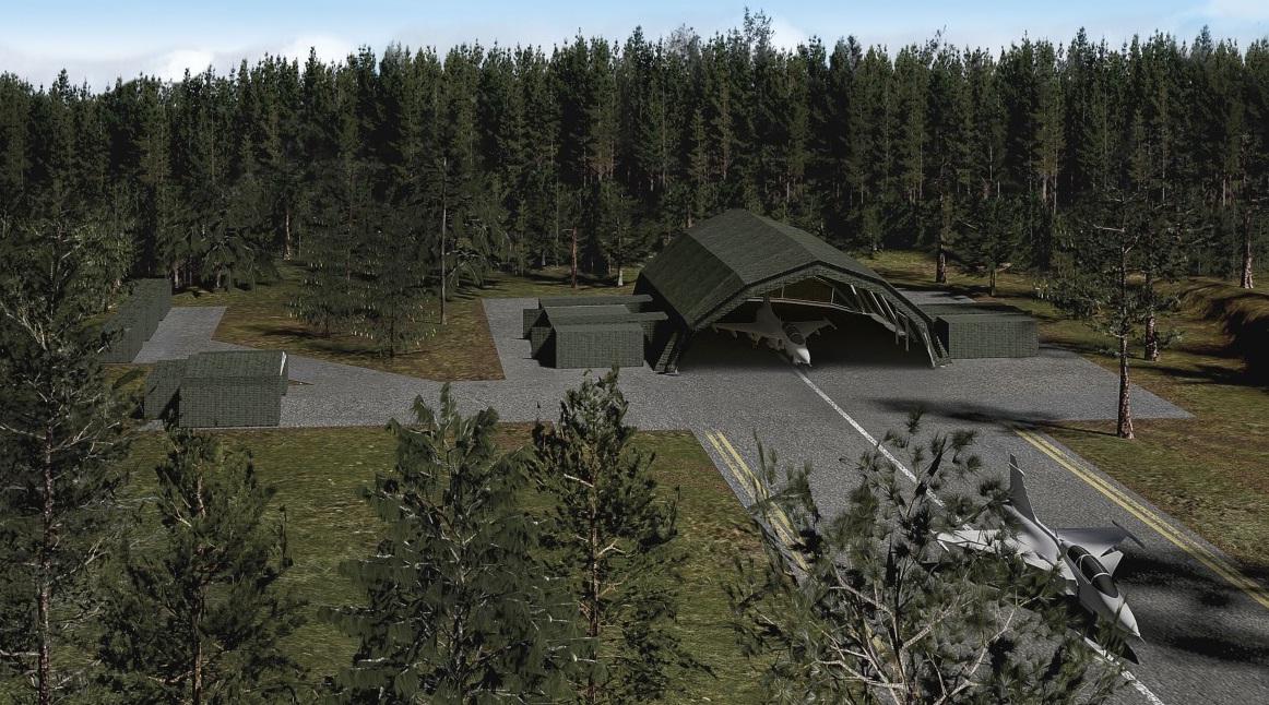 Instalacoes de manutencao desdobraveis de aeronaves - imagem Saab