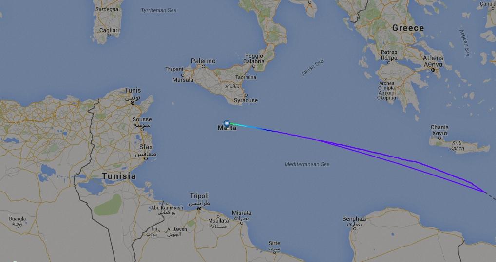 KC-390 a caminho de Malta