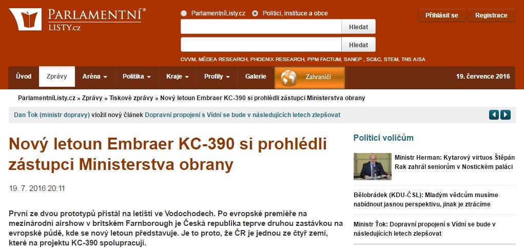 KC-390 parlamento theco