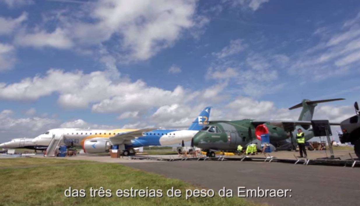 cena 5 video Embraer Farnborough 2016