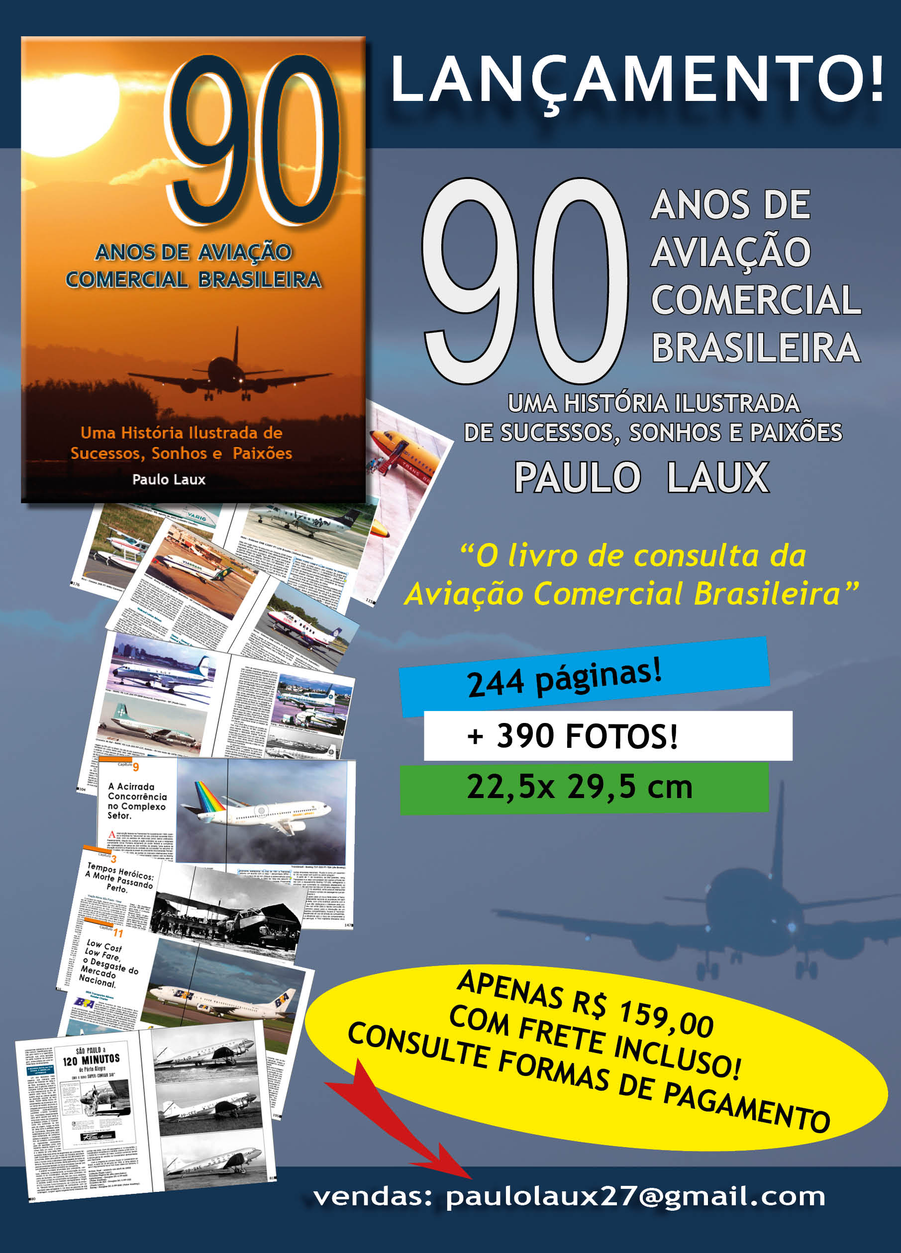 livro 90 ANOS Folder publicidade