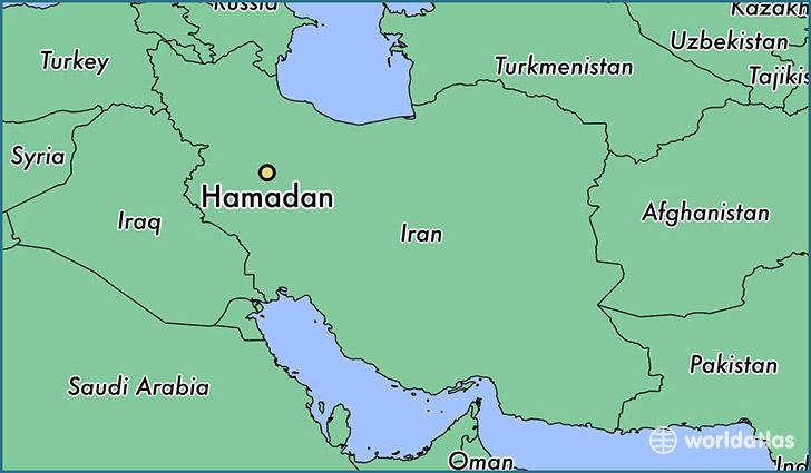 hamadan-locator-map