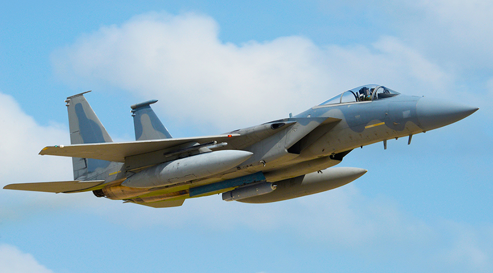 F-15C com Legion POD no pilone ventral