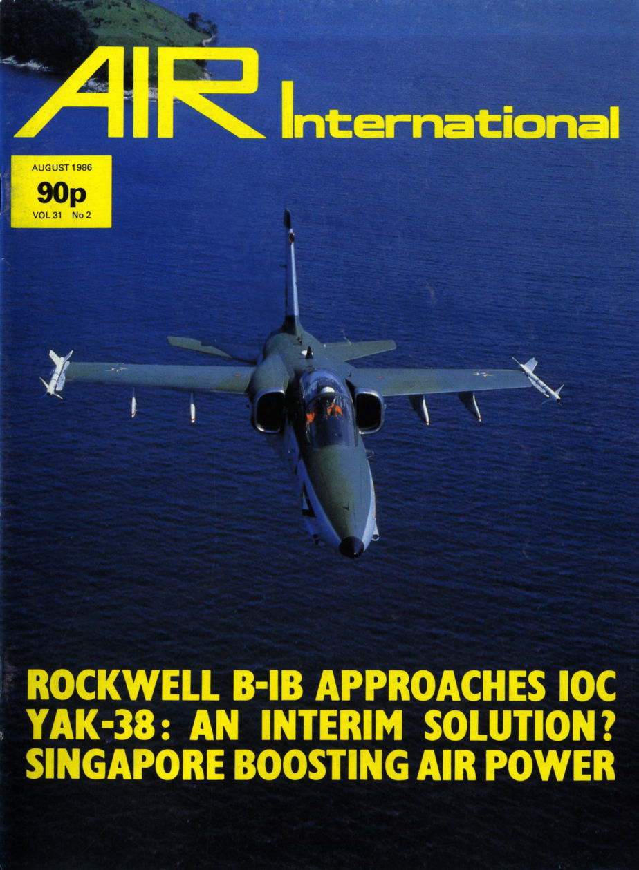 AMX na capa da Air International 1986-08