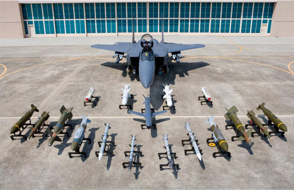 F-15K sul-coreano e suas armas