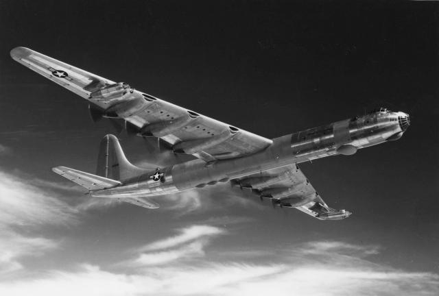 RB-36D in Flight