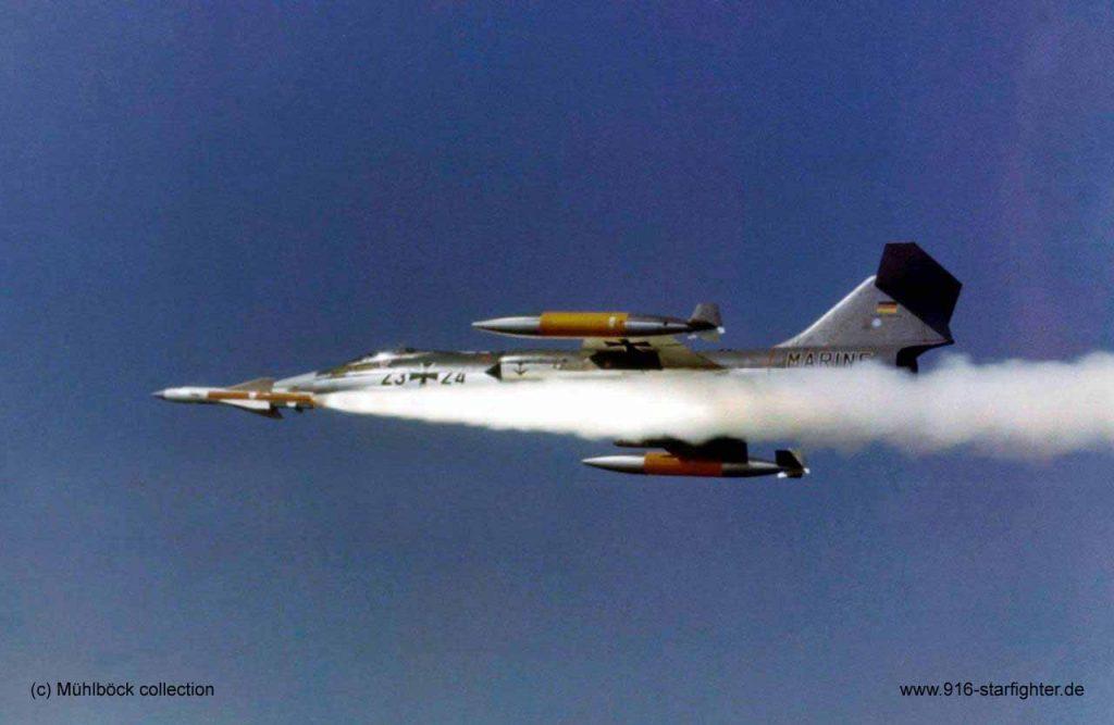 F-104 lançando míssil antinavio Kormoran