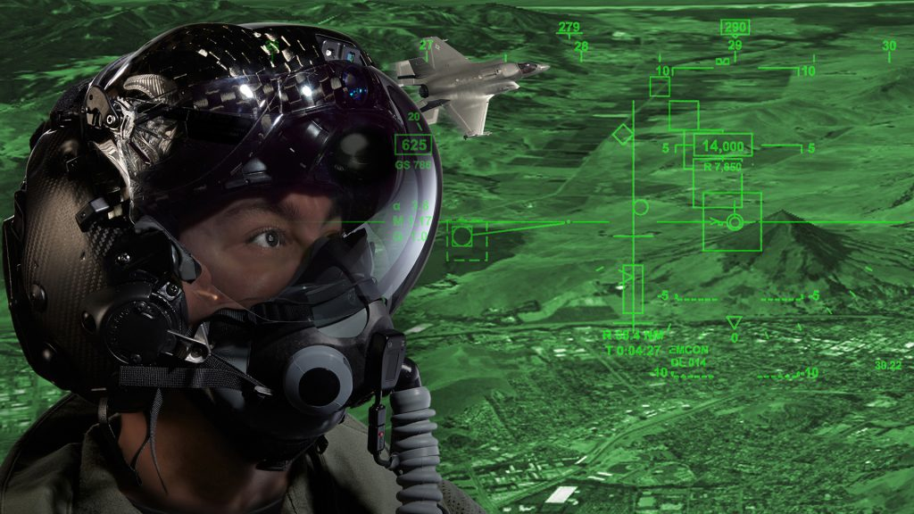F-35-Helmet-with-Symbology - image rockwell collins