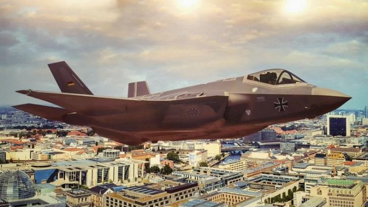 Conceito do F-35 nas cores da Luftwaffe