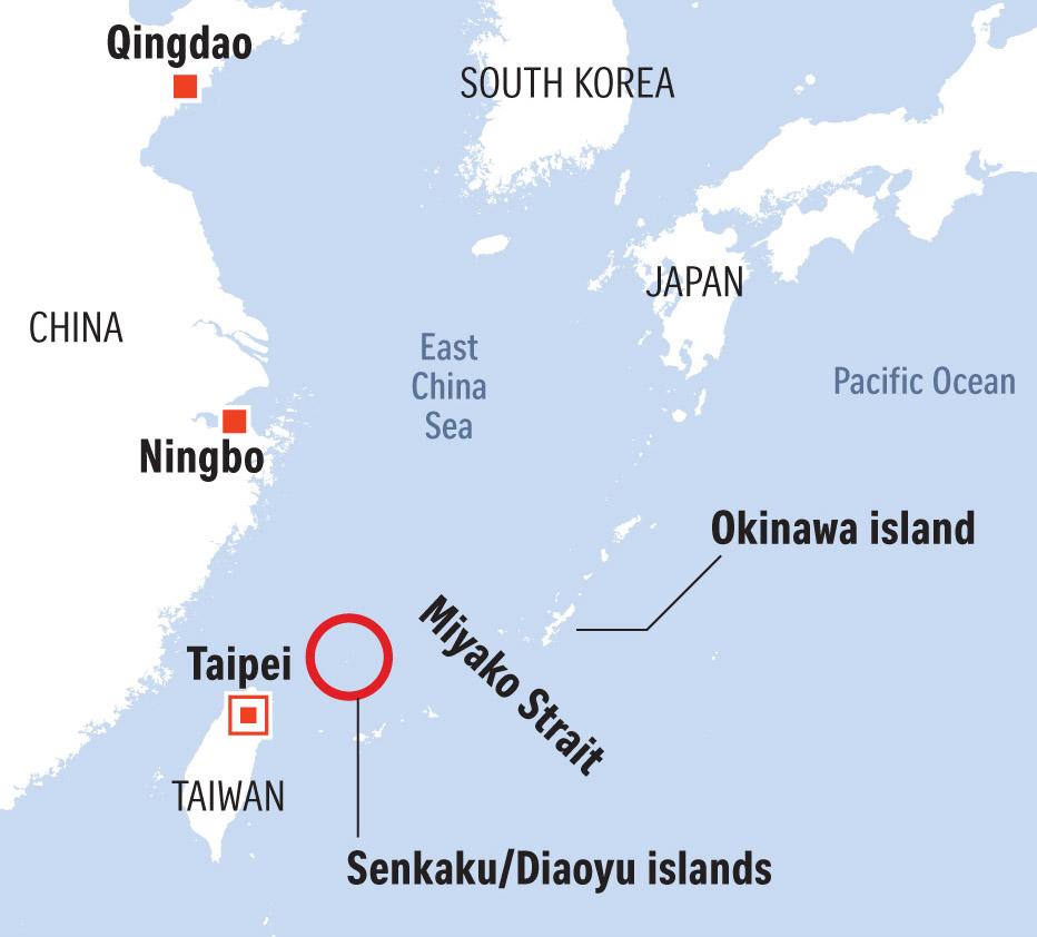 Miyako strait map