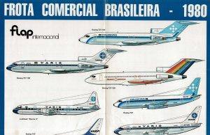 Poster Frota Comercial Brasileira - 1980 - Flap Internacional