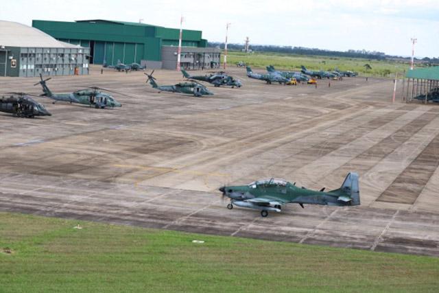 Aeronaves da FAB no Exercício Tápio