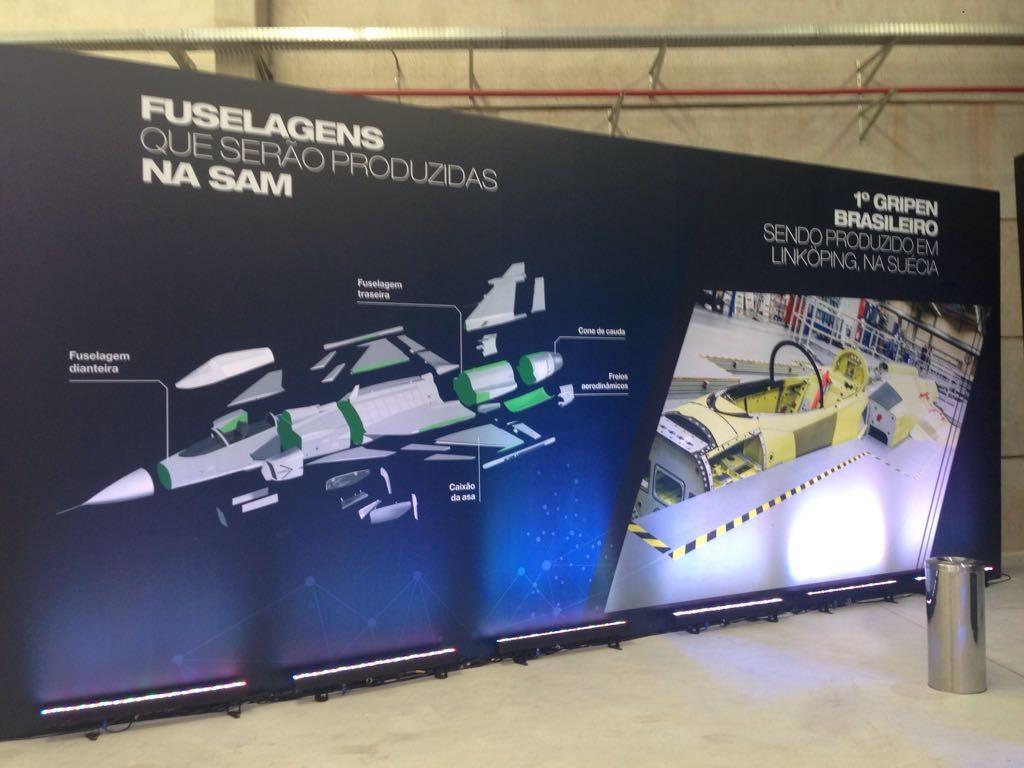 Apresentação da nova fábrica da Saab no Brasil