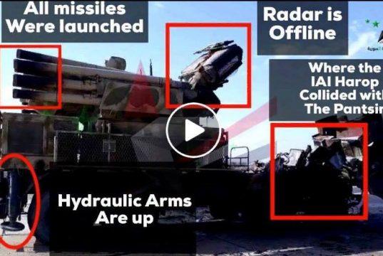 Pantsir-S1 atingido por drone israelense na Síria