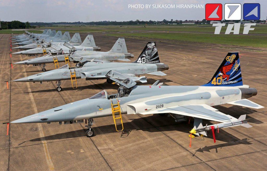 RTAF comemora 40 anos de operação do F-5