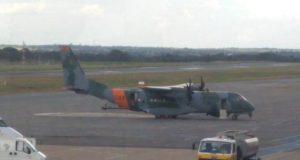SC-105 da FAB que teve princípio de incêndio em voo