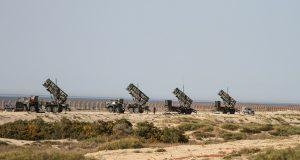 Lançadores de mísseis Patriot em Israel