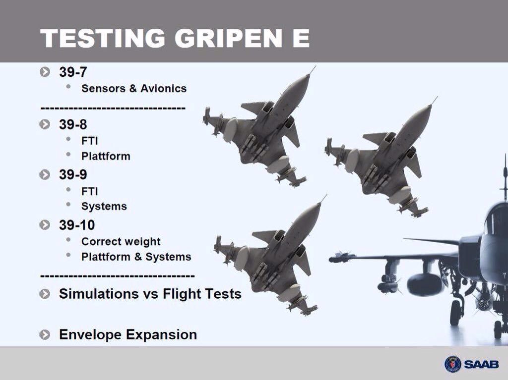 Voa o terceiro caça Saab Gripen E