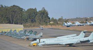 Aeronaves no Exercício Técnico BVR