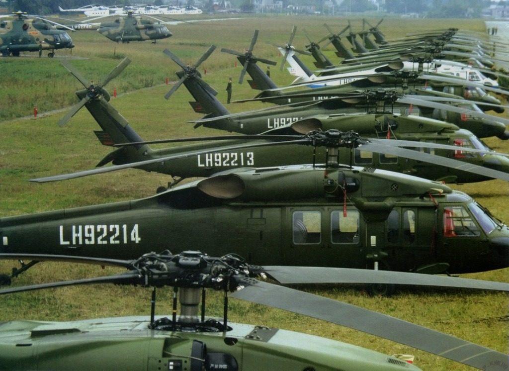 UH-60 Blackhawks chineses comprados nos anos 80