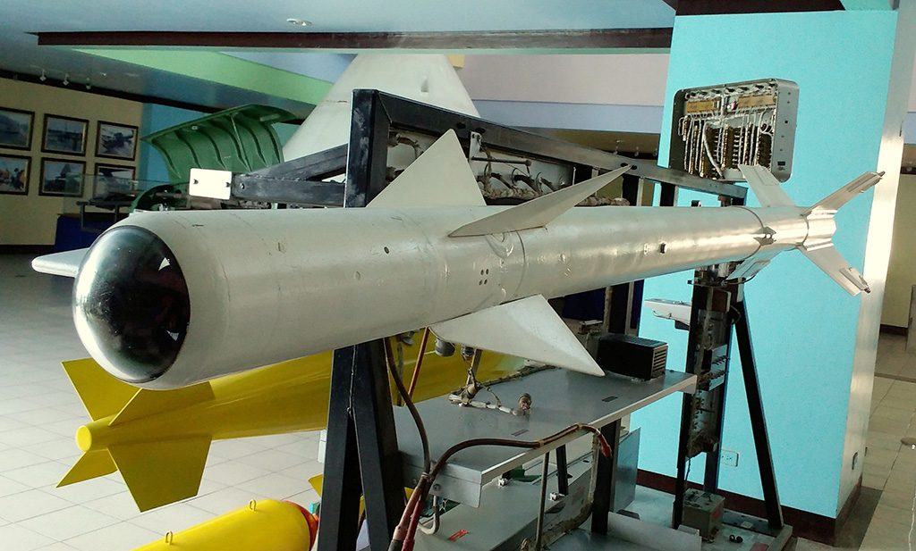 Um AIM-9B Sidewinder no Phillippine Air Force Aerospace Museum