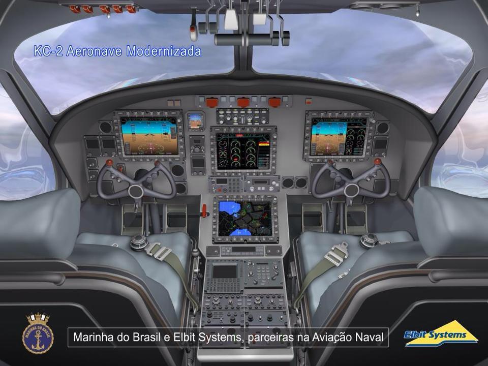 """O novo """"glass cockpit"""" dos futuros KC-2 da Aviação Naval da Marinha do Brasil"""