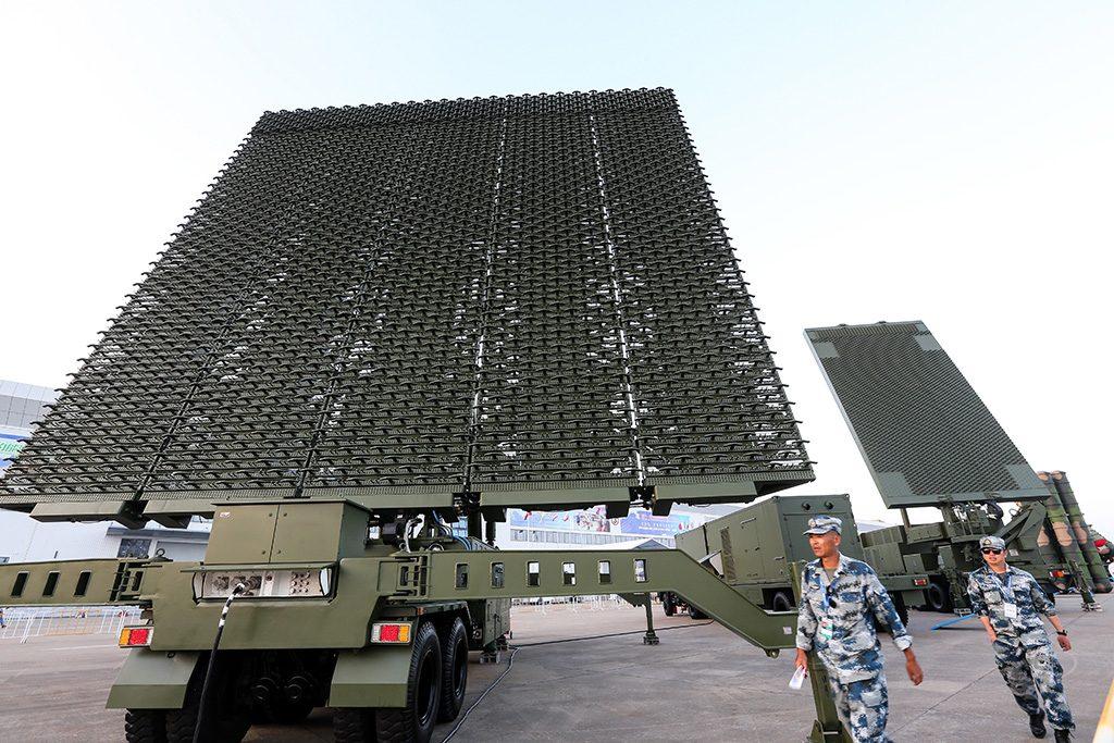 Antena de radar chinês