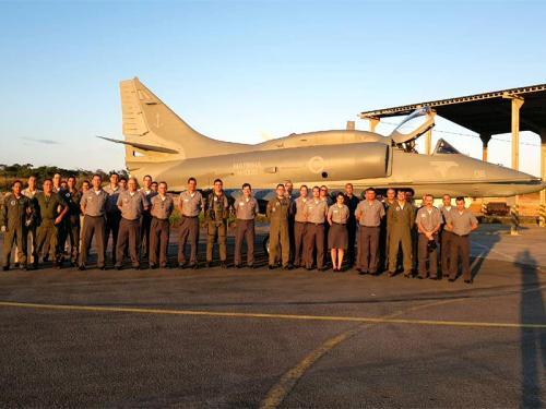 Recebimento do AF-1B N-1008 no Esquadrão VF-1