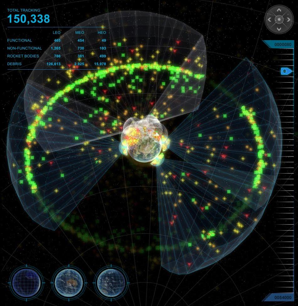 A consciência situacional do espaço fornece dados sobre o lixo espacial e satélites desativados que podem afetar futuros lançamentos