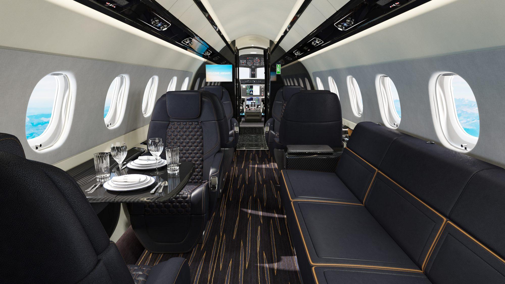 Interior do Praetor 600