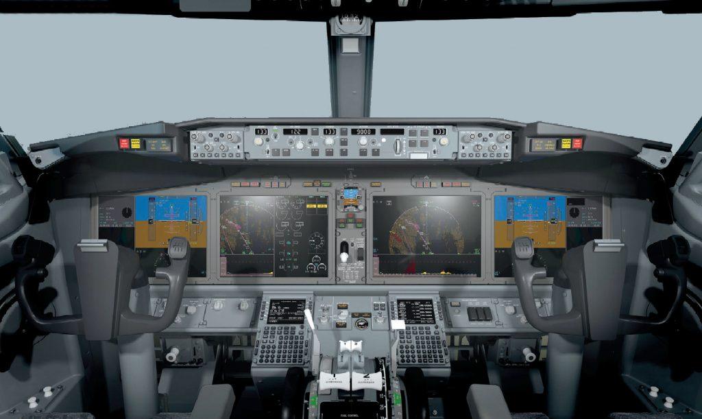 Cockpit do 737 MAX