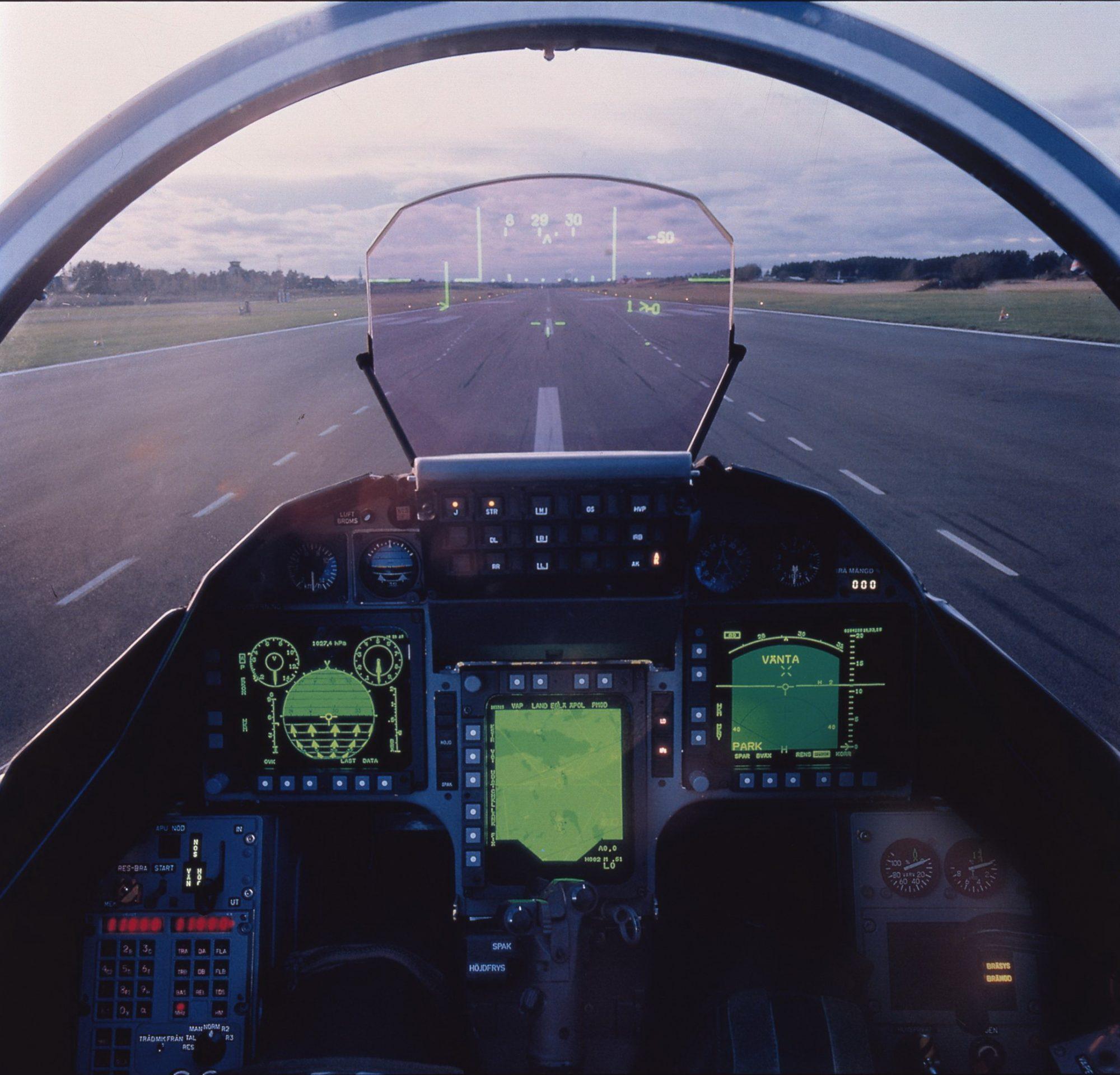 Cockpit dos Gripen A e B