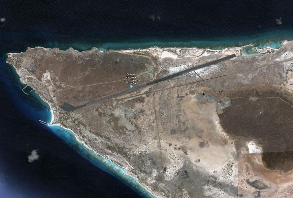 Pista de pouso na Isla de la Orchila