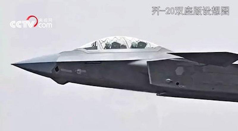 Concepção do J-20 biposto