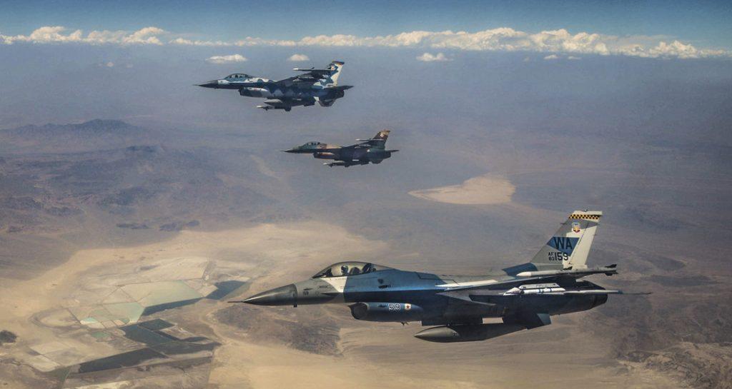 F-16 Aggressor da USAF no Red Flag